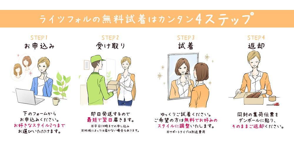 医療用かつら女性用&男性用|自宅で無料試着&通販購入できる!